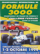 "MAGNY COURS F3000 Original 1994 poster 16x23.6 "" (400x605mm)"
